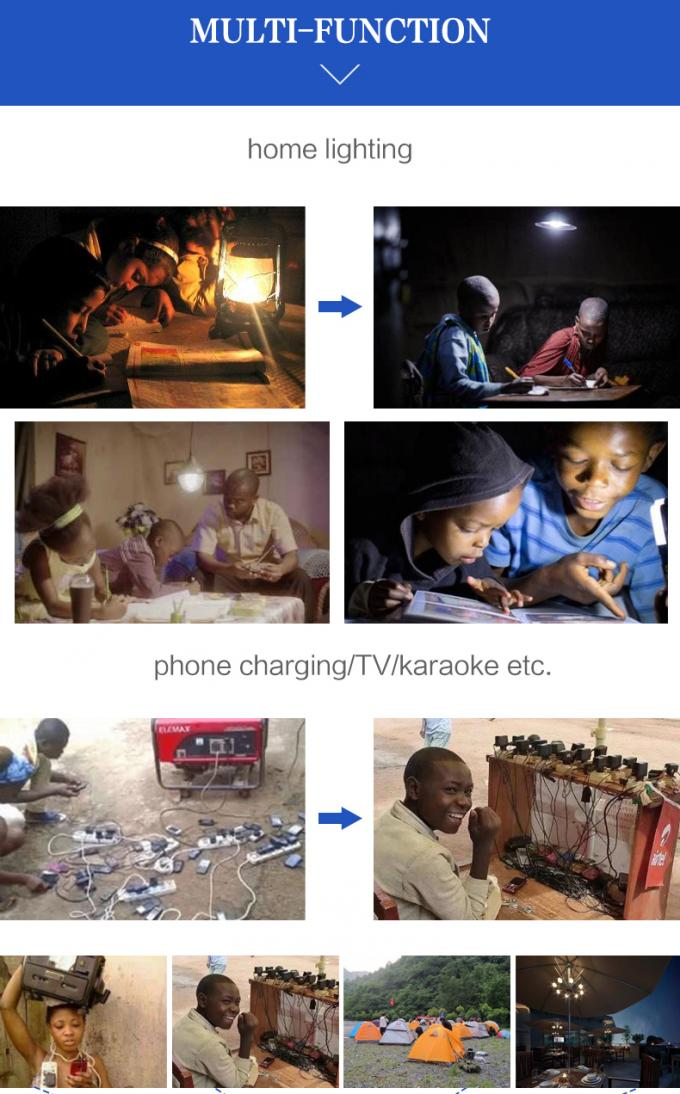 M-Pesa Payg Solar System , Kenya Rsolar Products For Rural Areas 5 Type Phone Charger