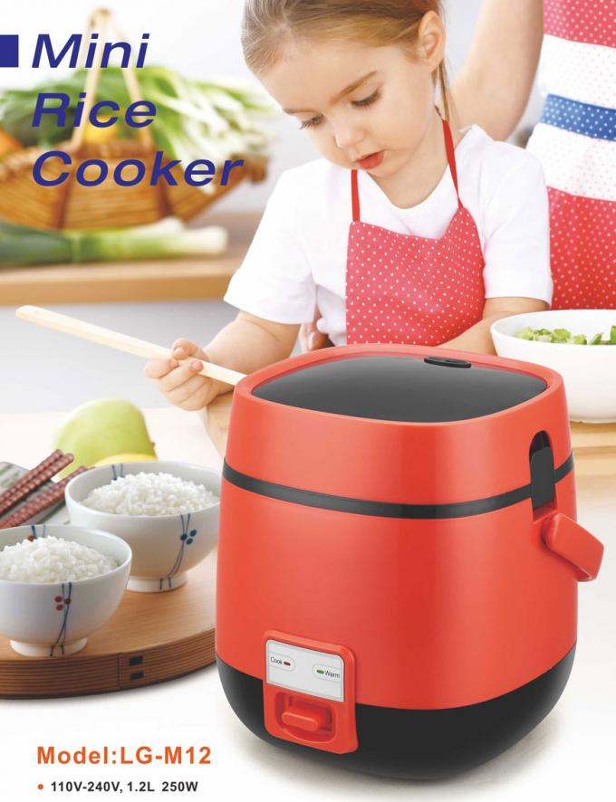 Multi electric mini rice cooker portable hot pot cooker 1.2L