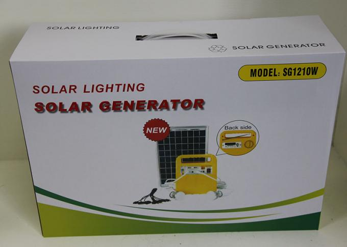 Clean Energy Solar Powered Lights High Power 10W 18V Polycrystalline Yellow Color