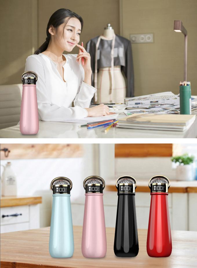 EW-DD3 Crystal diamond LED thermos bottle luxury stainless steel life vacuum cup