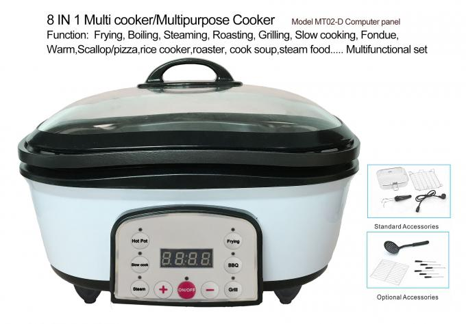 Multi cooker 8 in 1 , Universal multipurpose pot cooker  all in one 5L  1200-1400W