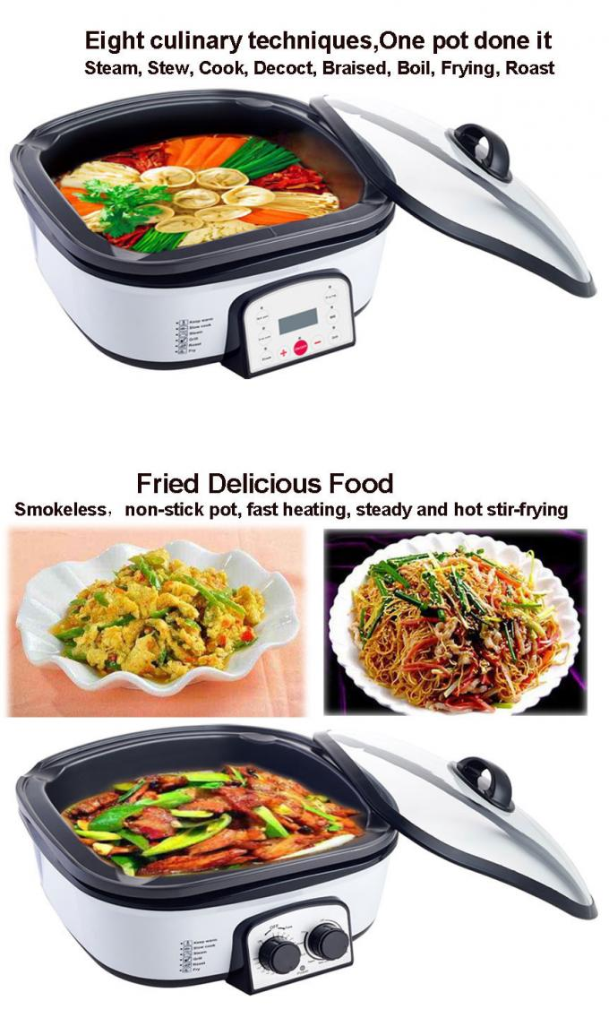 Powerful 8 In 1 Multifunction Cooker Kitchen Appliances Automatic Hign Safety