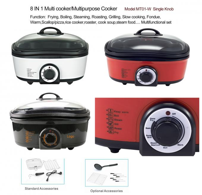 Stainless Steel Multipurpose Electric Cooker Built In Smart Programs Household Appliance