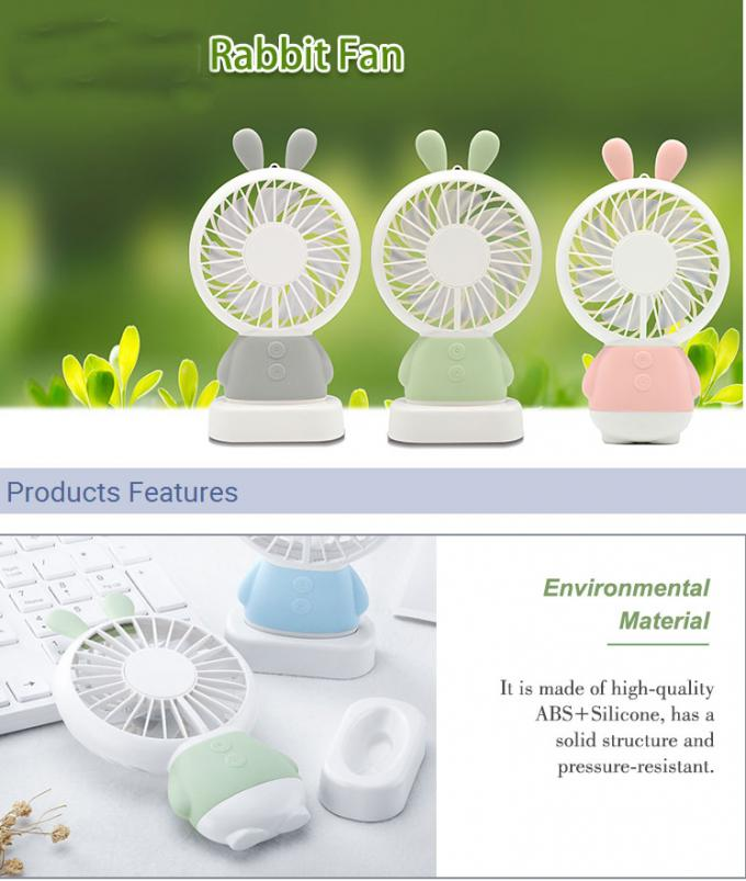 Quiet Silent USB Powered Portable Fan Brushless Motor Comfortable Handle Posture