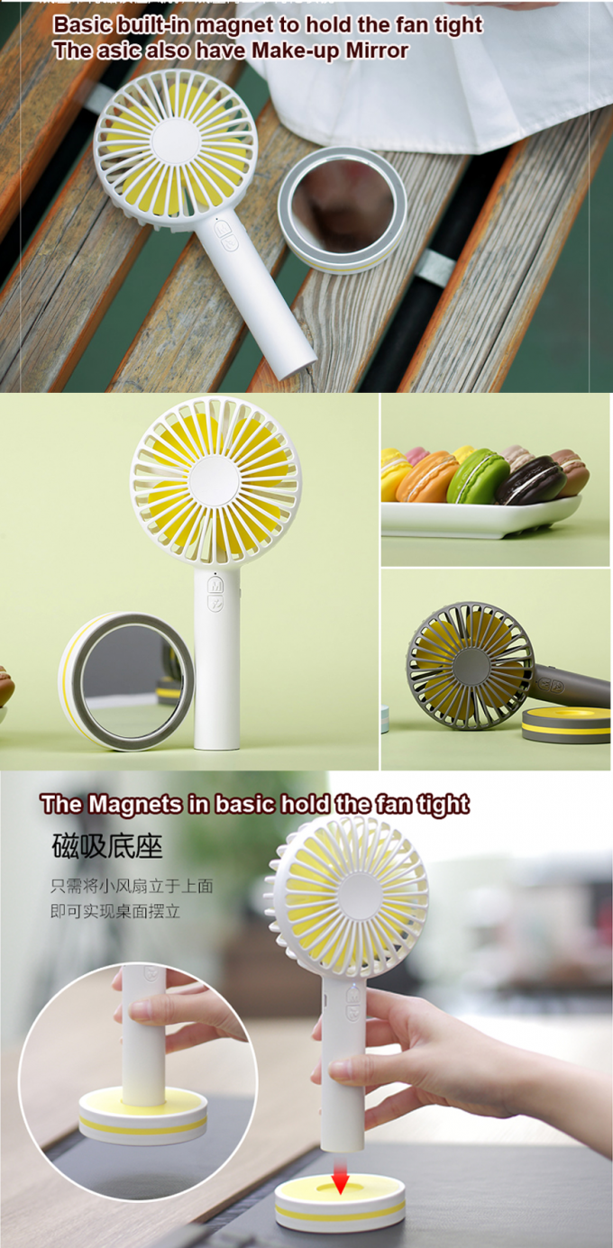 Micro Outlet Mini Portable USB Fan , USB Portable Adjustable Fan Portable Handheld