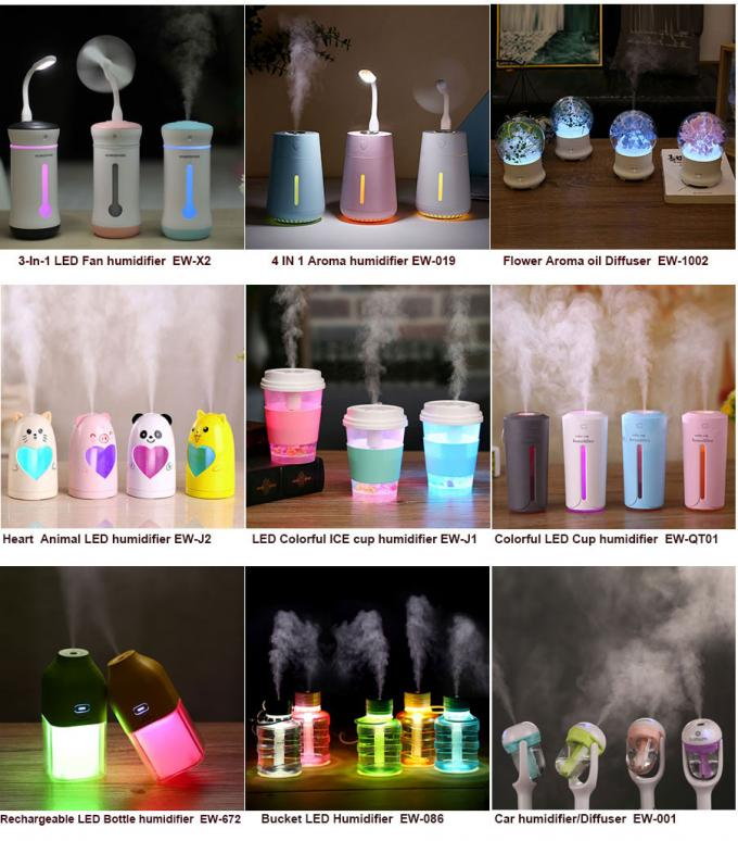 500ml Large bottle LED humidifier /  commercial classic ultrasonic personal humidifier
