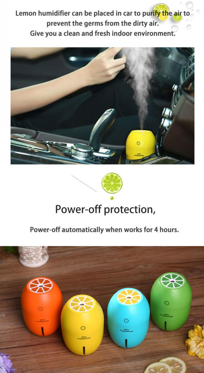Lemon humidifier 5v ultrasonic air washer room humidifier, humidifier ultrasonic sunshine