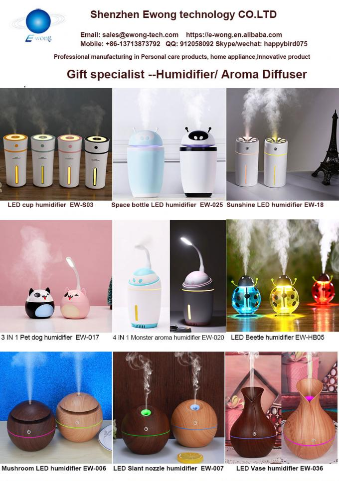 Color LED cup humidifier /  USB 5v classic ultrasonic bottle led colorful air humidifier 230ml