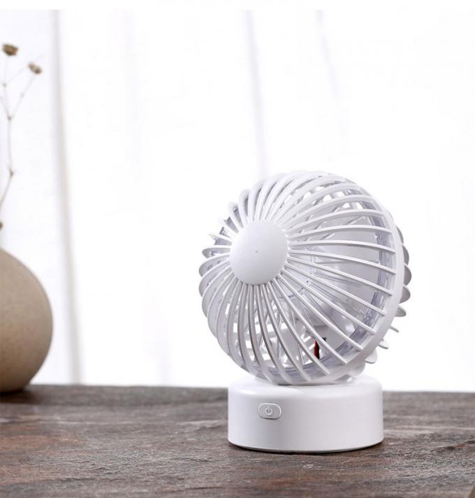 Mini Electric Battery Powered Desk Fan , Rechargeable Battery Operated Fan