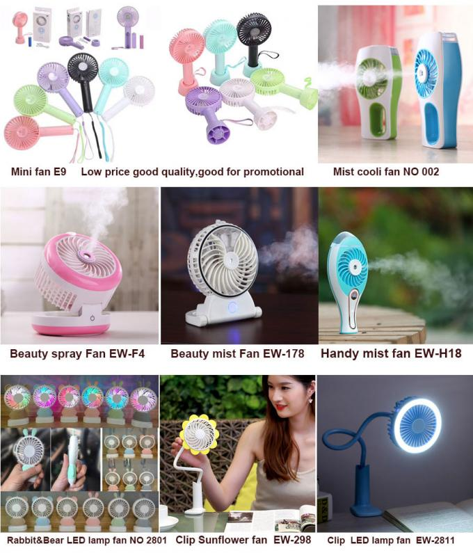 Portable Battery Operated Cooling Fan , Hand Held Electric Fan No Noise Running