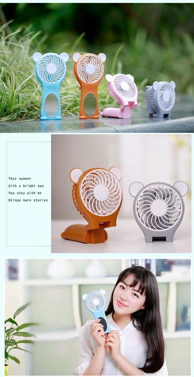 Souvenir Small Hand Held Fans Battery Operated , Rechargeable Battery Powered Fan
