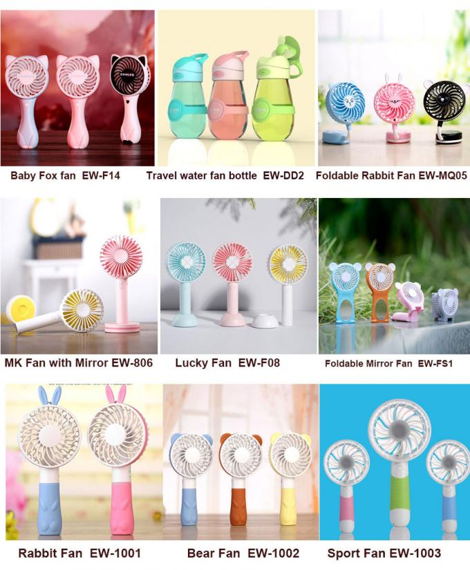 Plastic Small Battery Operated Fan Mini Toy 5v Dc Cooler Strong Wind Multi Colors