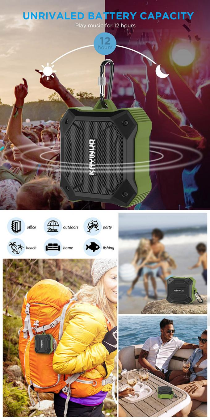 RDA Chip Rechargeable Portable Bluetooth Speakers Automatic Shutdown Energy Saving