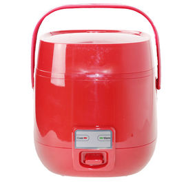 China 110V Mini Steam Rice Cooker Red Color  1.2L Small Capacity Stainless Steel Material supplier