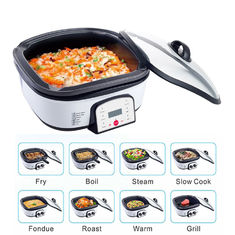 China 8 in 1 Multifunctional food pot cooker multi electric bbq grill with hot pot supplier