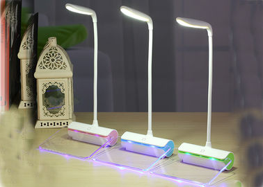 China Battery Operated Modern Desk Lamp , LED Nightstand Lamp Rechargeable supplier
