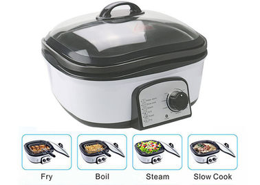 China Slow Small Electric Multi Cooker Glass Cover With Stainless Steel Steamer Rack supplier