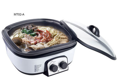 China 1200W Electric Multi Cooker , Stainless Steel Multi Cooker Brushed Stainless Steel Exterior supplier