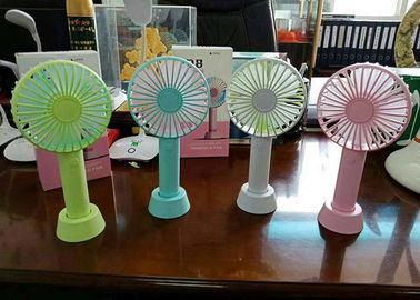 China Handheld Personalized Hand Mini Portable USB Fan Brushless / Brush Motor 3.5W supplier