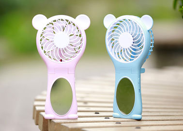 China Automatic Cartoon Mini Small Battery Operated Fan Foldable Bear Usb Large Air Outlet supplier