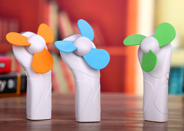 China Plastic Battery Powered Handheld Fan , Portable Mini Fan Battery Operated supplier