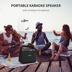 China Rechargeable Karaoke Portable Bluetooth Speakers K10A Double Horn Pressure 24W RMS supplier