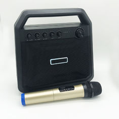 China Rechargeable Portable Bluetooth Speakers 8000mah Battery Black Karaoke Function supplier
