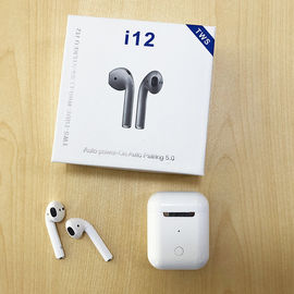 China Noise Cancelling Wireless Bluetooth Earphones I12 Tws Metal ABS Material 60H Standby supplier