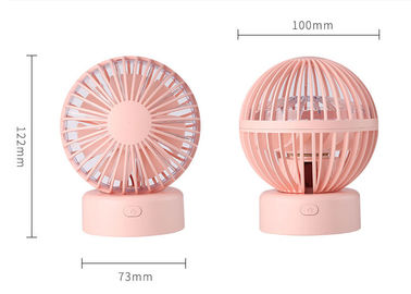 China Portable Battery Operated Cooling Fan , Hand Held Electric Fan No Noise Running distributor