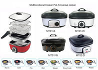5 Liter Electric Multi Cooker , Power Pot Pressure Cooker 1200-1400W Overheat Protection