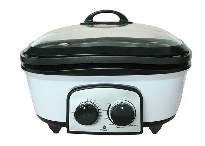 Steaming Electric Multi Cooker , All Purpose Cooker Variable Temperature Controls Smokless